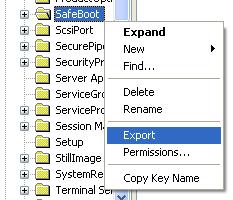 ... Export the key (right-click export)