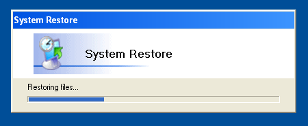 Confirm the restore operation; Windows will perform a System Restore and  reboot