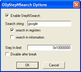 OllyStepNSearch | Didier Stevens