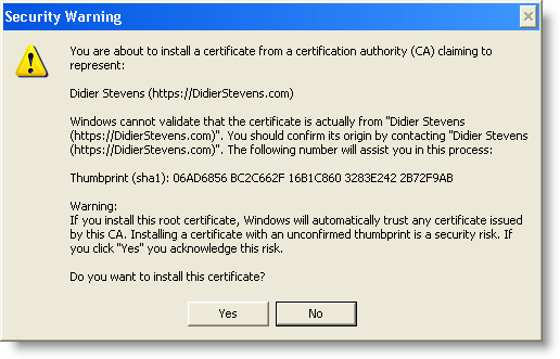 Howto: Add a Digital Signature to Executables | Didier Stevens