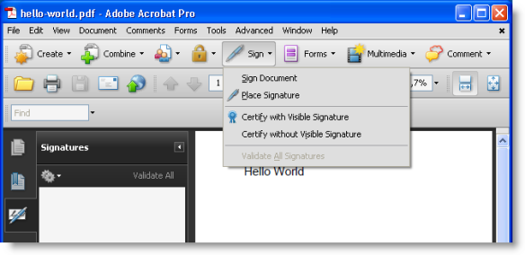Howto: Add a Digital Signature to a PDF File | Didier Stevens