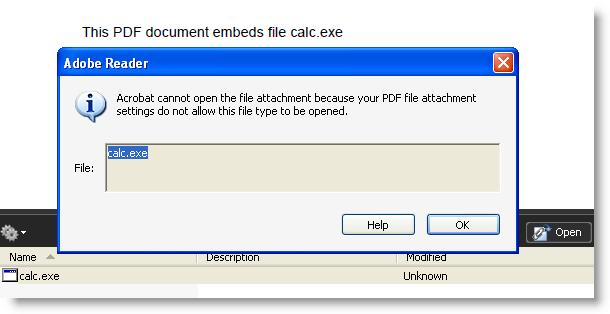 """""""Особенность"""" формата PDF позволяет запускать встроенные .exe файлы"""