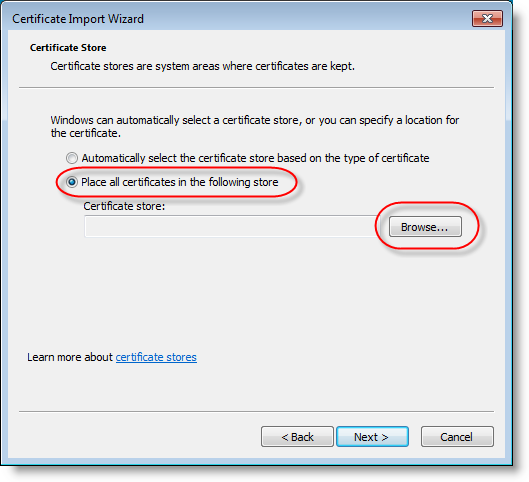 Quickpost: Adding Certificates to the Certificate Store