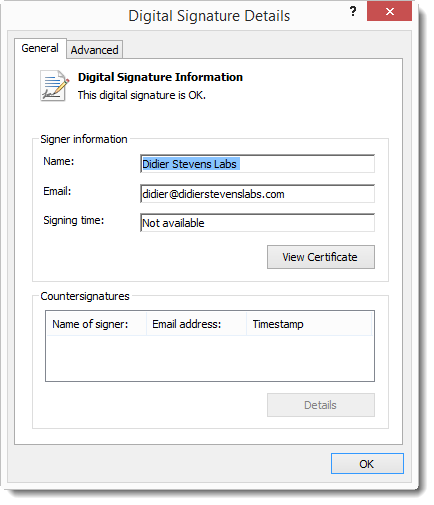 Authenticode And Timestamping And sha256 | Didier Stevens