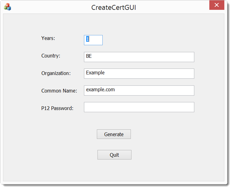 howto createcertgui create your own certificate on windows openssl