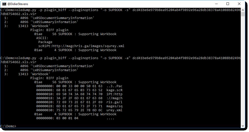 Update: plugin_biff py Version 0 0 2 / oledump py Version