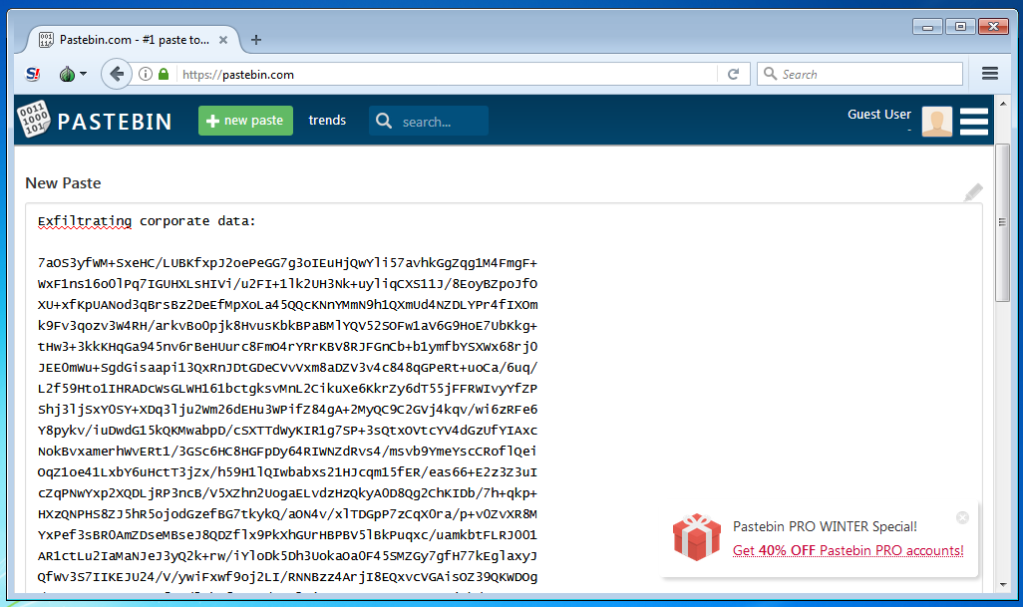 Quickpost: Data Exfiltration With Tor Browser And Domain Fronting