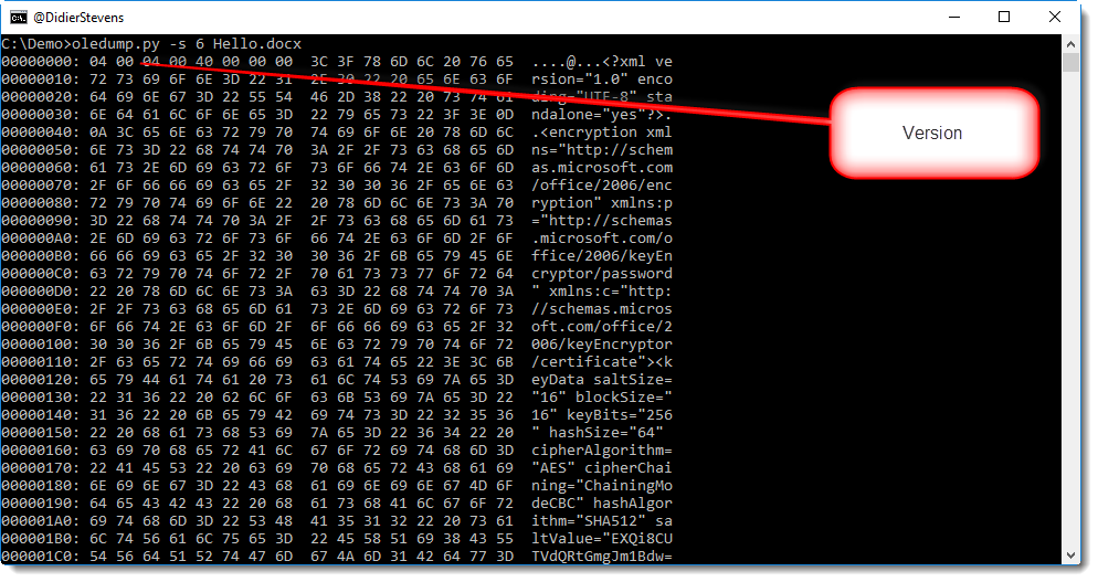 Encrypted OOXML Documents | Didier Stevens